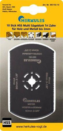 Herkules M5150-10 10-er Pack HSS Multi Sägeblatt Tri Zahn M2 – Bild 1