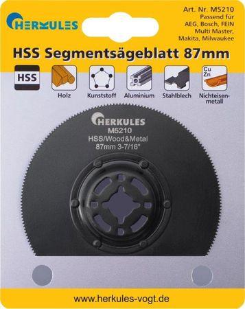 Herkules M5210 HSS Segmentsägeblatt M2 abgekröpft, für Multischleifer – Bild 1