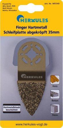 Herkules M5540 Finger Hartmetall Schleifplatte abgekröpft – Bild 1