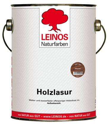 Leinos 260 Holzlasur für Außen 082 Palisander 2,5 l