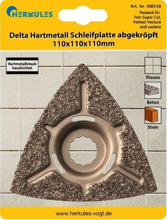 Herkules M8530 Delta Hartmetall Schleifplatte abgekröpft – Bild 1