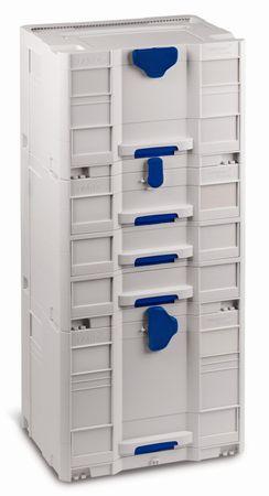 "Tanos Sortainer T-Loc ""Sys-Sort IV/3"" lichtgrau (T-Loc Verschluss blau HKS 43 K)  – Bild 4"