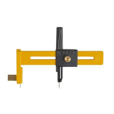 OLFA Kreisschneider CMP-1 für Modellbau & Bastelarbeiten, Radius 1-15cm, inkl. 5 Ersatzklingen