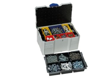 TANOS Mini-systainer T-Loc III für Kleinteile, mit Boxeneinsatz, 6-fach, lightgrau/blau