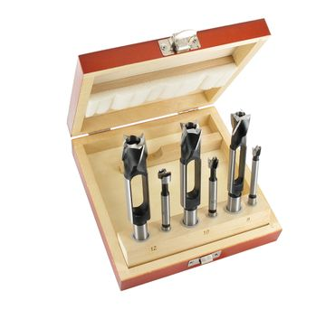 ENT 6-teiliges  Zapfenschneider und Forstnerbohrer Set WS - Ø 8 - 10 - 12 mm – Bild 2