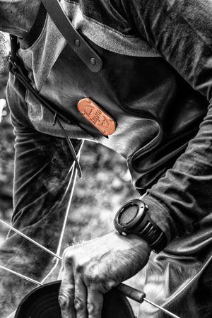 "Xapron Lederschürze, 100% Handarbeit, ""New York"" kurz, Cognac 89cm XL – Bild 4"