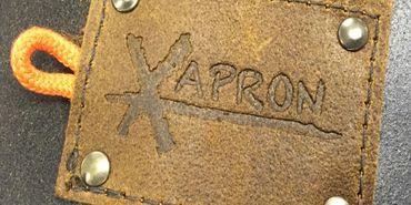 "Xapron Lederschürze, 100% Handarbeit, ""Utah"" kurz, Schwarz 40cm – Bild 3"