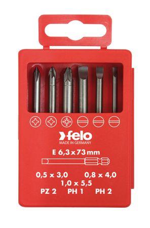 Felo Profi Bitbox 73 mm, 6-tlg SL, PZ, PH