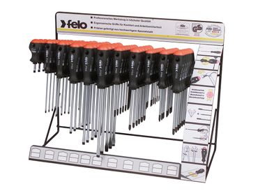 Felo 11 Haken Display Serie 500 Mechaniker, 72-tlg SL, PZ, PH
