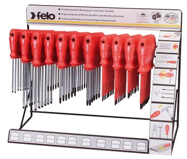 Felo 11 Haken Display Series 200 Mechaniker-VDE Mix, 73-tlg SL, PZ, PH