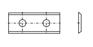 Oppold Wendeplatte 60 30x12x1,5mm a=16,0mm T04F 10 Stück