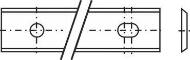 Wendeplatte 3 35° 120x13x2,2mm a=60mm T08MF 2 Stück