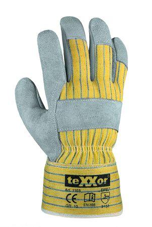 12 Paar Rindkernspaltleder-Handschuhe EIFEL Gr 10