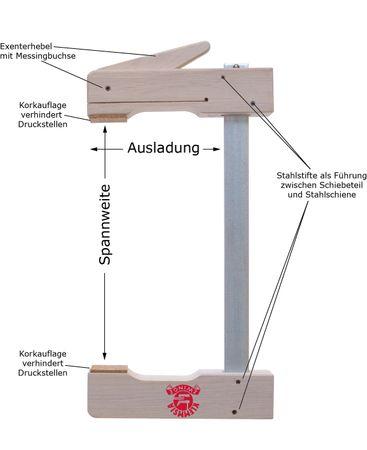 Klemmsia-Zwinge für Profis 400mm Spannweite, 110mm Ausladung – Bild 1