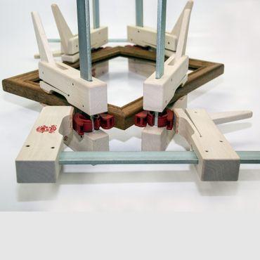 Klemmsia Satz : drei Zwingen 200/110mm + 1 Paar CORNET – Bild 3