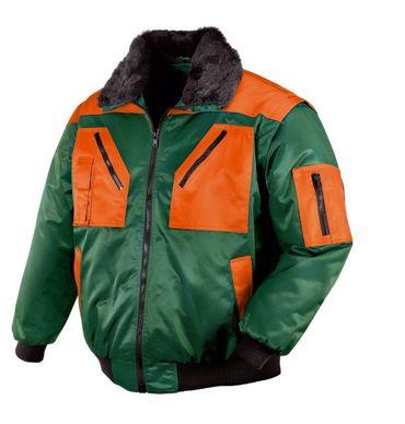 teXXor Pilotenjacke Oslo, Winter Piloten Jacke, M grün/orange 4178