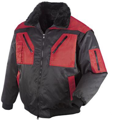 teXXor Pilotenjacke Oslo, Winter Piloten Jacke, L schwarz/rot 4180