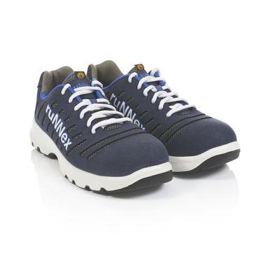 ruNNex 5173-45 Sicherheit Schuhe, Flex Star, S1P, Größe 45, Blau/Weiß/Grau – Bild 1