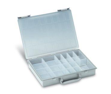 TANOS Rack-Box für Rack-systainer IV – 17 Einzelboxen – Lichtgrau
