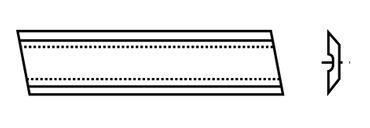 Systemobelmesser Sinus HSS 18%  260x16x2,5mm