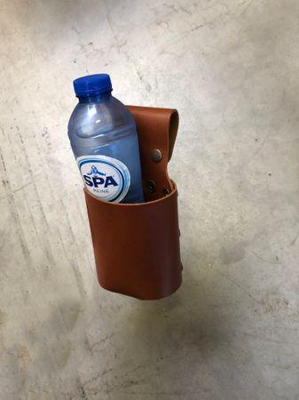 Xapron Flaschenholster für Lederschürzen, Cognac 21x8cm – Bild 3