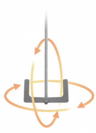 Ankerrührer, Schaft:M14x2,0, ØRührkorb 190mm (2 Flügel), verzinkt  – Bild 2