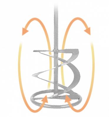 Edelstahlrührer MR4, Schaft:M14x2,0, ØRührkorb 100mm , V2A - – Bild 1
