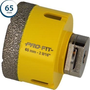 Diamond Dry Pro-Fit Diamantlochsäge mit intergriertem Click & Drill