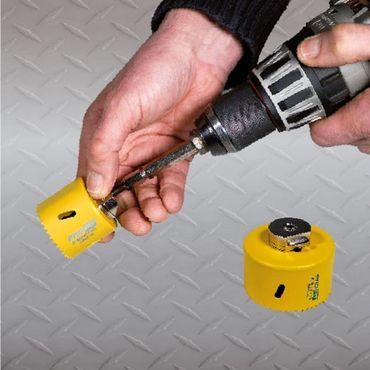 ProFit - HSS Bi-Metall Plus - Lochsäge mit Regelmässiger-Verzahnung 43mm mit integriertem Adapter und Eurolasche – Bild 3