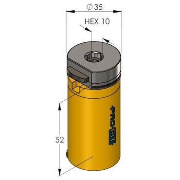 PRO-FIT Multi-Purpose-Lochsäge Ø35mm mit 50mm Nutzlänge – Bild 2