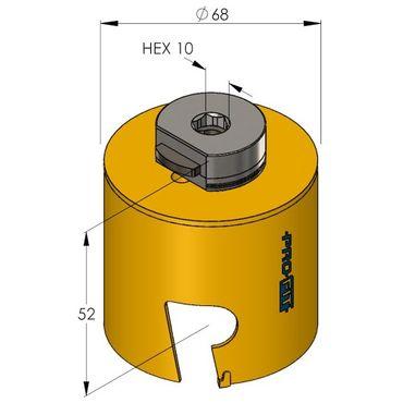 ProFit Multi Purpose Lochsaege 68 MM,  mit Integriertem Adaptor, – Bild 2