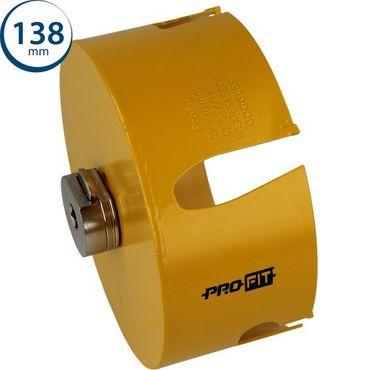 PRO-FIT Multi-Purpose-Lochsäge Ø138mm mit 50mm Nutzlänge - ohne Zentrierbohrer - mit Click&Drill Aufnahme – Bild 1