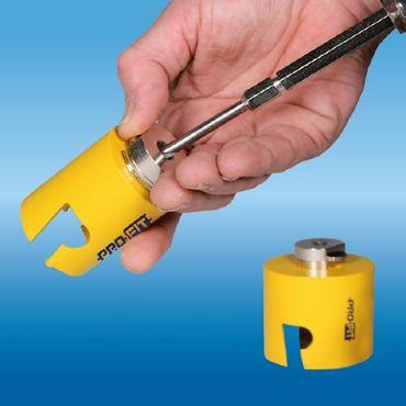 PRO-FIT Multi-Purpose-Lochsäge Ø152mm mit 50mm Nutzlänge - ohne Zentrierbohrer - mit Click&Drill Aufnahme – Bild 6