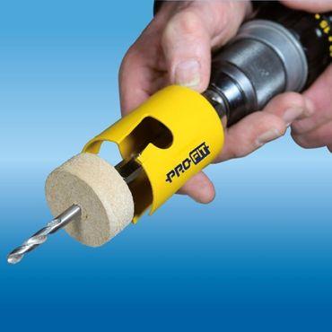 PRO-FIT Multi-Purpose-Lochsäge Ø160mm mit 50mm Nutzlänge - ohne Zentrierbohrer - mit Click&Drill Aufnahme – Bild 5