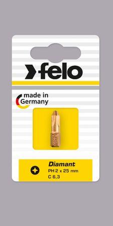 Felo Bit, Challenger (Diamantbeschichtet) C 6,3 x 25mm, 3 Stk auf Karte  PH 1 / PH 2 / PH 3