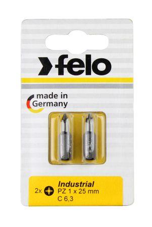 Felo Bit, Industrie C 6,3 x 25mm, 2 Stk auf Karte 2x     PZ 1