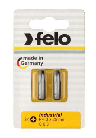 Felo Bit, Industrie C 6,3 x 25mm, 5 Stk auf Karte 5 x PH 3