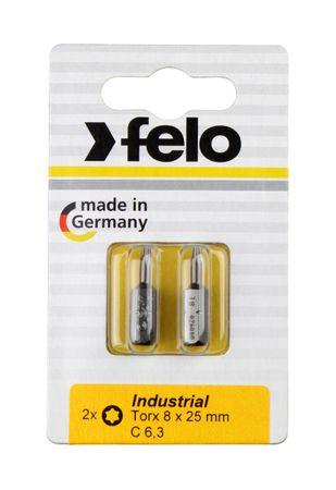 Felo Bit, Industrie C 6,3 x 25mm, 2 Stk auf Karte 2x     Tx 9