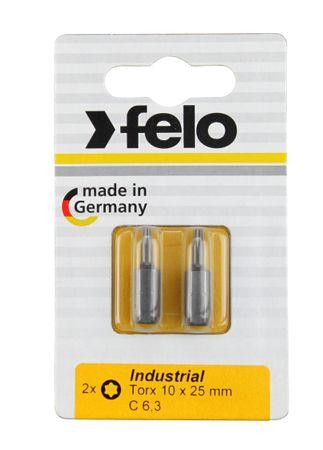 Felo Bit, Industrie C 6,3 x 25mm, 2 Stk auf Karte 2x     Tx 10