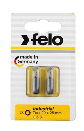 Felo Bit, Industrie C 6,3 x 25mm, 2 Stk auf Karte 2x   Tx 20
