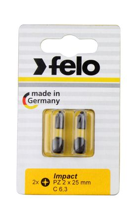 Felo Bit, Impact E 6,3 x 50 mm, 1 Stk auf Karte Tx 25