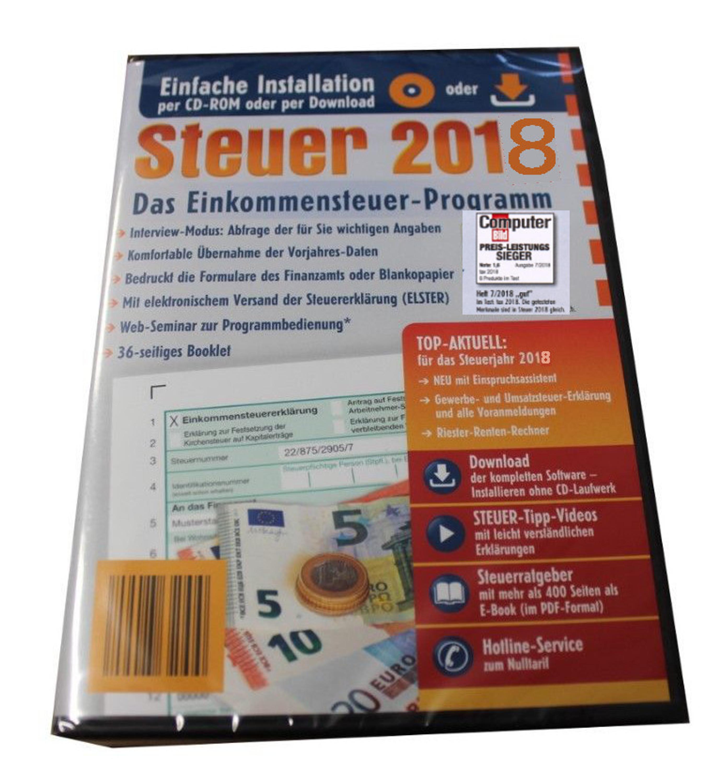 steuersoftware 2018 aldi steuer cd steuererkl rung elster. Black Bedroom Furniture Sets. Home Design Ideas