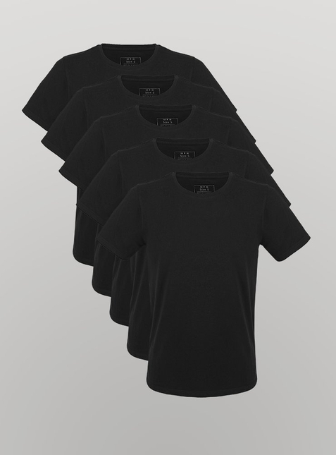 5-Pack Men's T-Shirt black