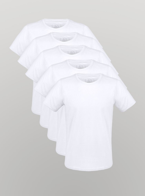 5-Pack Men's T-Shirt white
