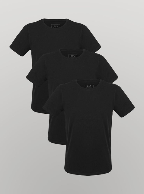 3-Pack Men's T-Shirt black/black/black