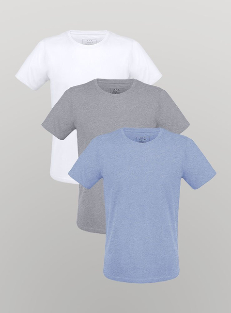 3-Pack Men's T-Shirt white/grey-blend/blue-blend