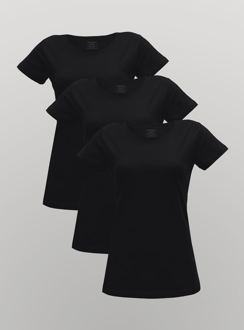 3-Pack Women's T-Shirt black/black/black