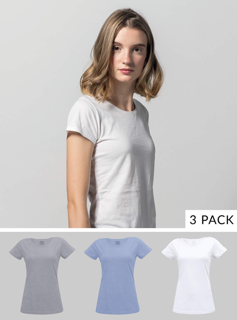 3er Pack Damen T-Shirt