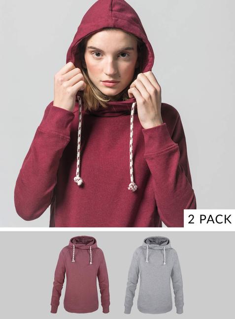 2er Pack Damen Hoodie