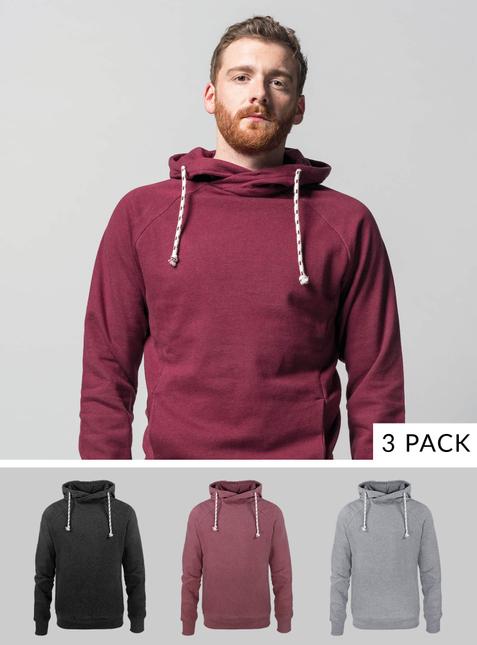 3-Pack Men's Hoodie